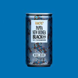 台湾限定「UCC PAPUA NEW GUINEA BLACK無糖」のパッケージデザイン