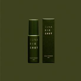 「SUNA BIOSHOT」ミニ・パウチのパッケージデザイン